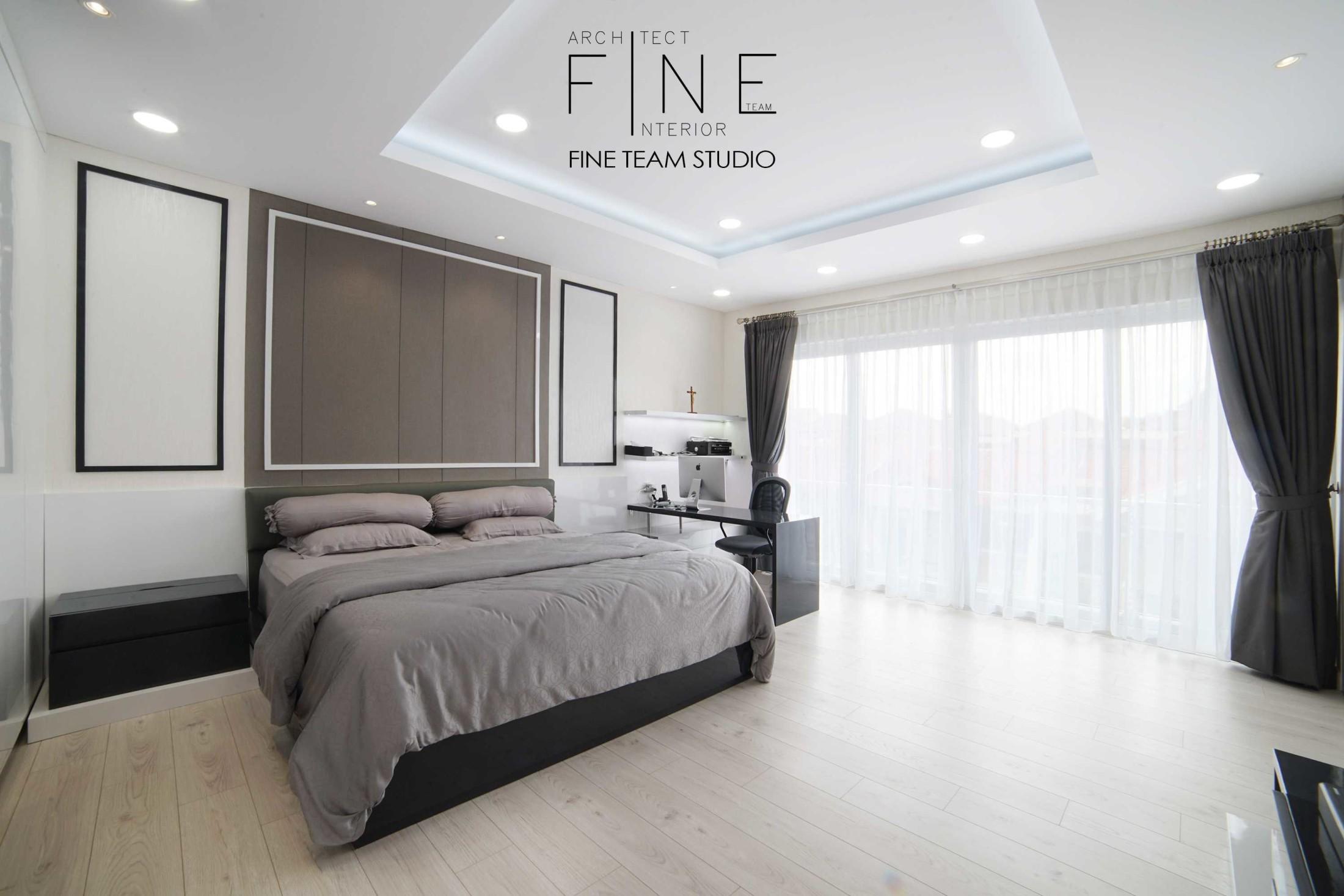 Desain interior kamar tidur Permata Buana Residence di Kembangan, Jakarta Barat karya Fine Team Studio tahun 2017 (Sumber: arsitag.com)