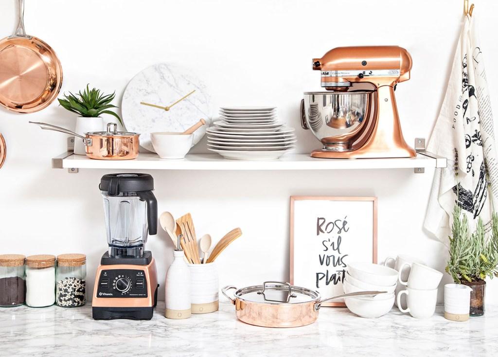 Perlengkapan Dapur dengan Sentuhan Warna Rose Gold