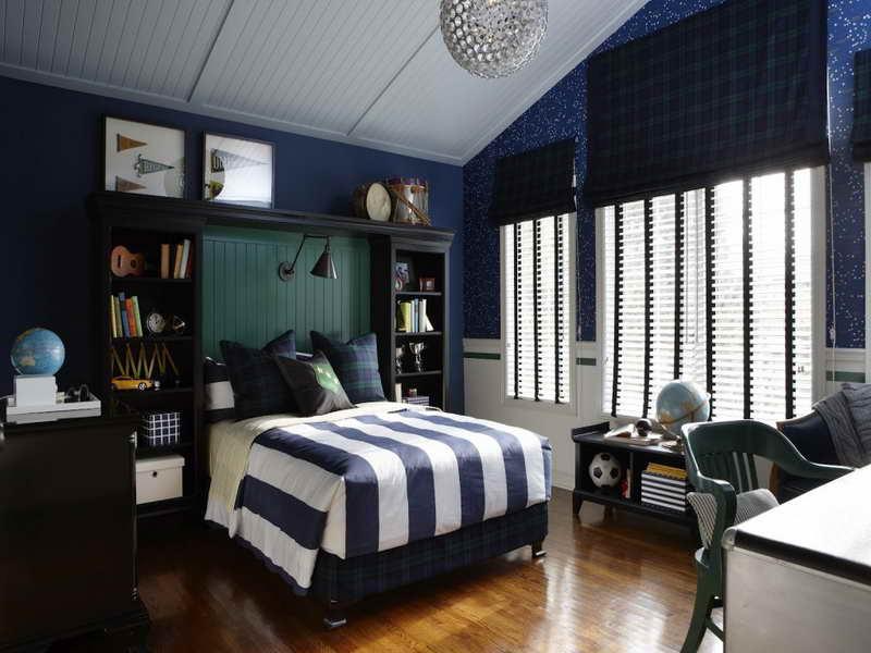 Kamar Tidur Vintage dengan Sentuhan Biru
