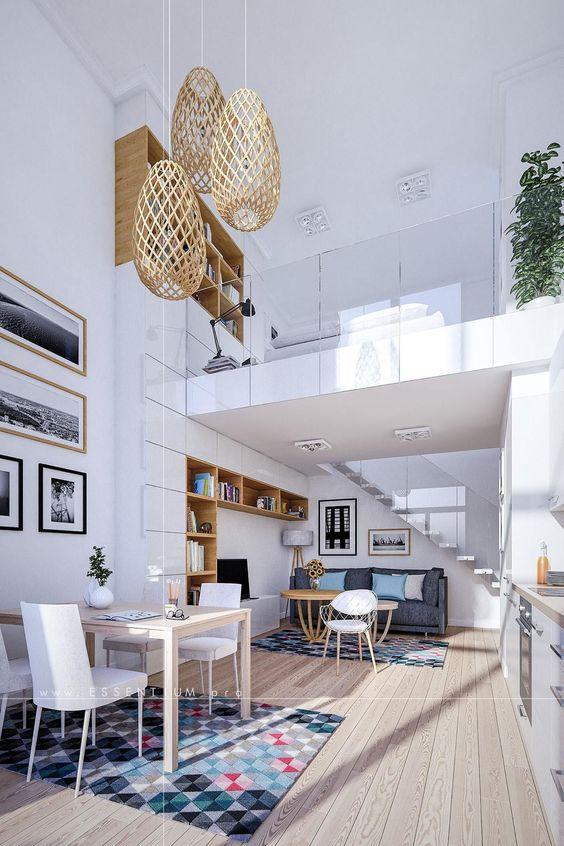 Rumah atau hunian yang menerapkan gaya compact, umumnya memiliki kesan modern dan canggih. Kesan ini dipertegas oleh pengaplikasian dinding atau jendela kaca yang besar di sekeliling rumah tersebut sehingga memberi kesan lebih modern. Konsep loft yang memaksimalkan setiap sudut dan sisi ruang, memperlihatkan trik penataan yang modern, efektif, dan efisien.