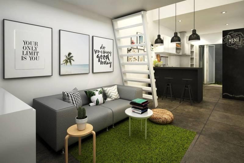 Living Room Scandinavian House karya CV. Infinity build, design, property (Sumber: arsitag.com)