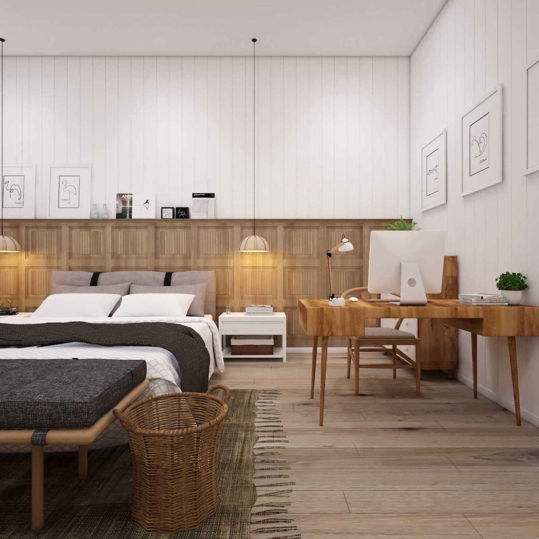 Bedroom pada rumah Scandinavian karya La.casa (Sumber: arsitag.com)