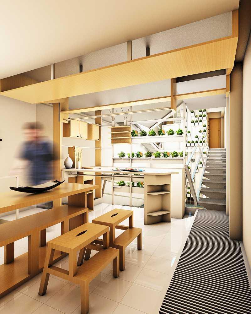 Baja pada lantai, tangga, balustrade, dan langit-langit membuat ruang terkesan lebih modern, rapi, bersih, dan menyatu.