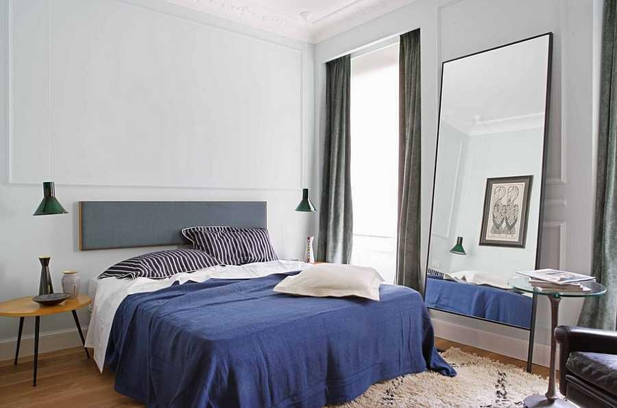 Kamar tidur maskulin dengan gaya mid-century modern (sumber Nefsi Suret)
