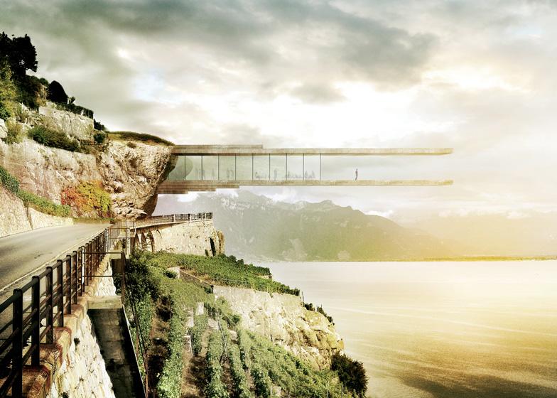 Museum Wine di Lavaux, Swiss karya Mauro Turin Architectes (sumber : dezeen.com)
