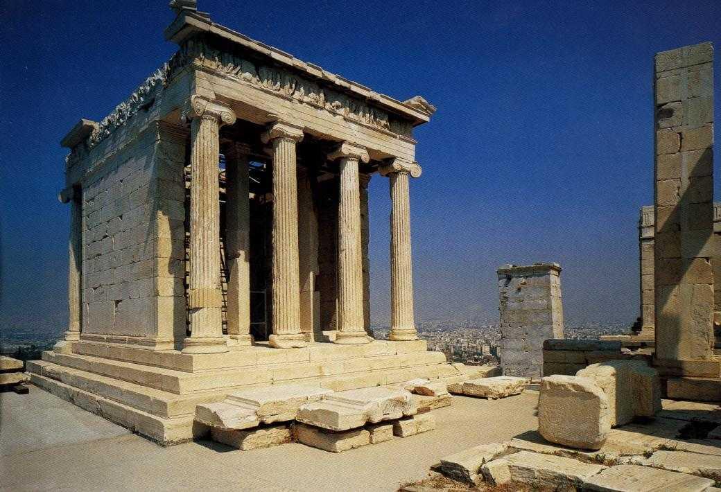 Reruntuhan kuil Athena (Sumber: pinterest.com)