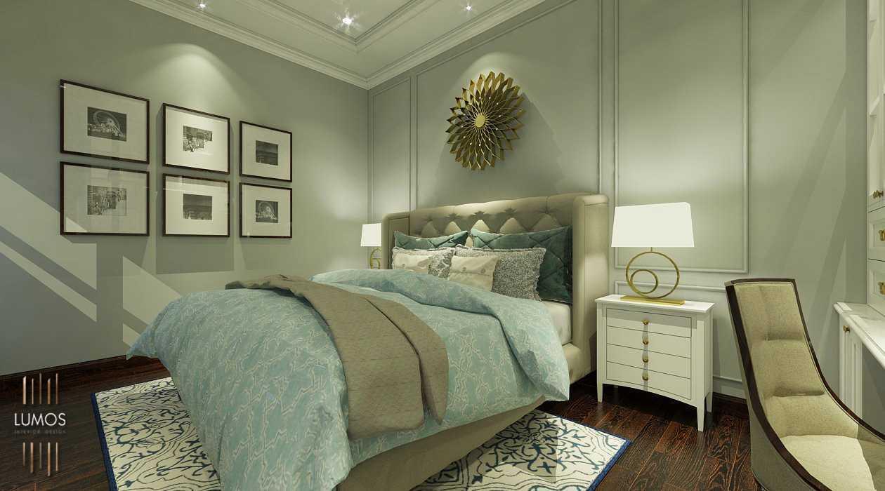 Lampu meja di desain interior kamar tidur karya Lumos Interior Design (Sumber: arsitag.com)