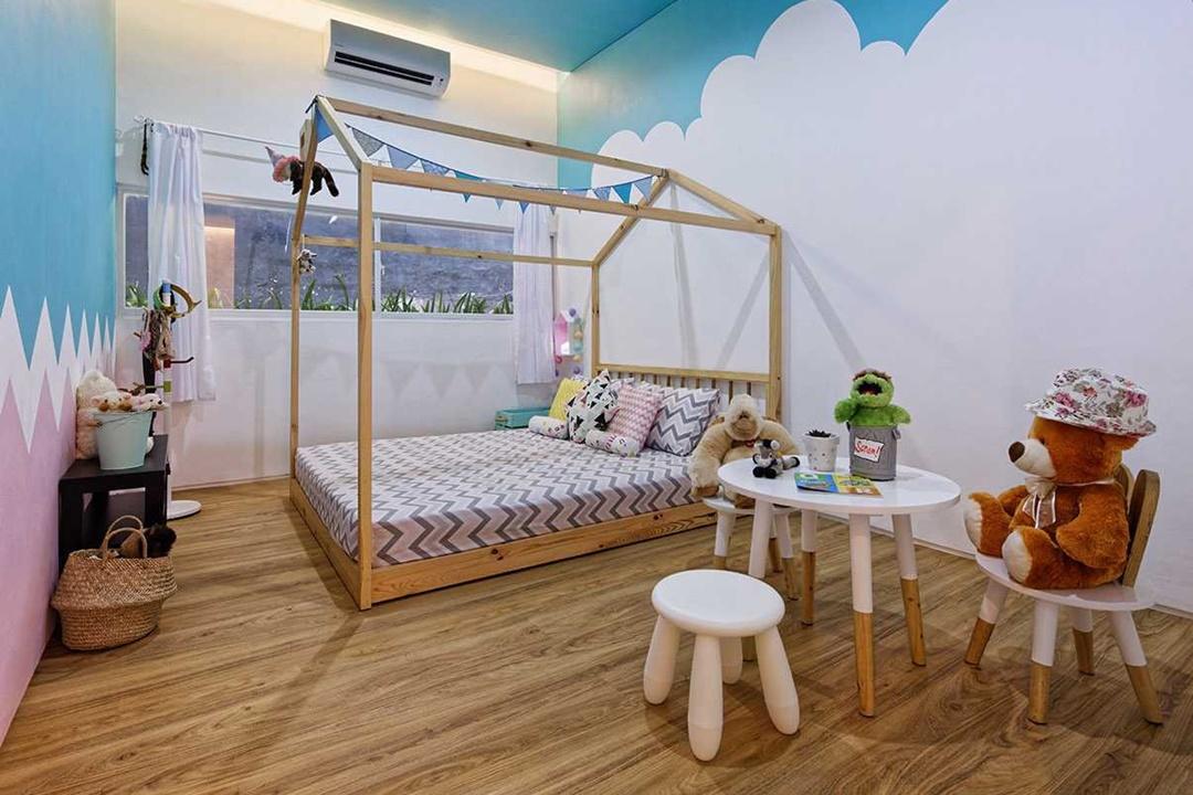 Desain interior kamar tidur Inset House di Bekasi karya Delution Architect (Sumber: arsitag.com)