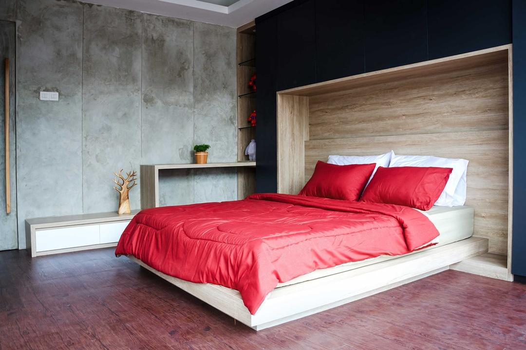 Desain interior kamar tidur Inspace Studio Showroom di Bandung karya Inspace Studio (Sumber: arsitag.com)