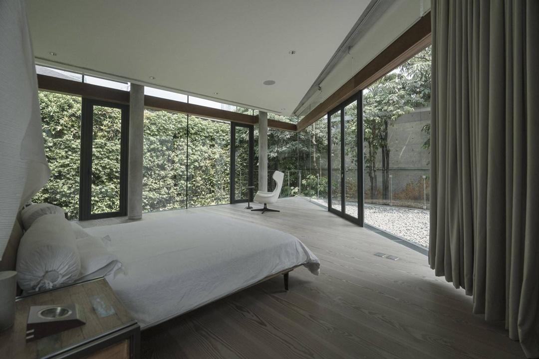 Desain interior kamar tidur JS House di Surabaya karya Studio Tonton (Sumber: arsitag.com)