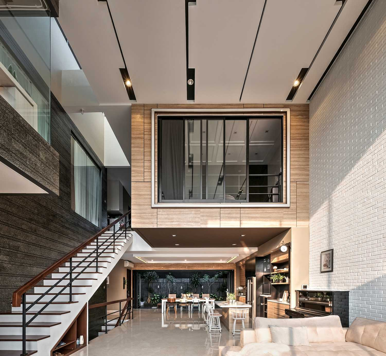 R+E House: Hunian Urban Minimalis Modern dengan Konsep Interlocking Space | Foto artikel Arsitag