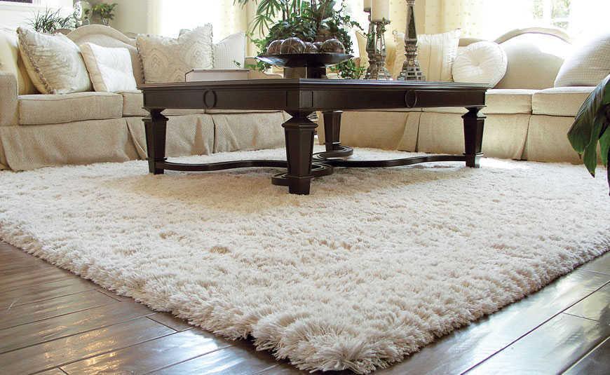 Penggunaan karpet di ruang tamu (Sumber: www.behac.com)