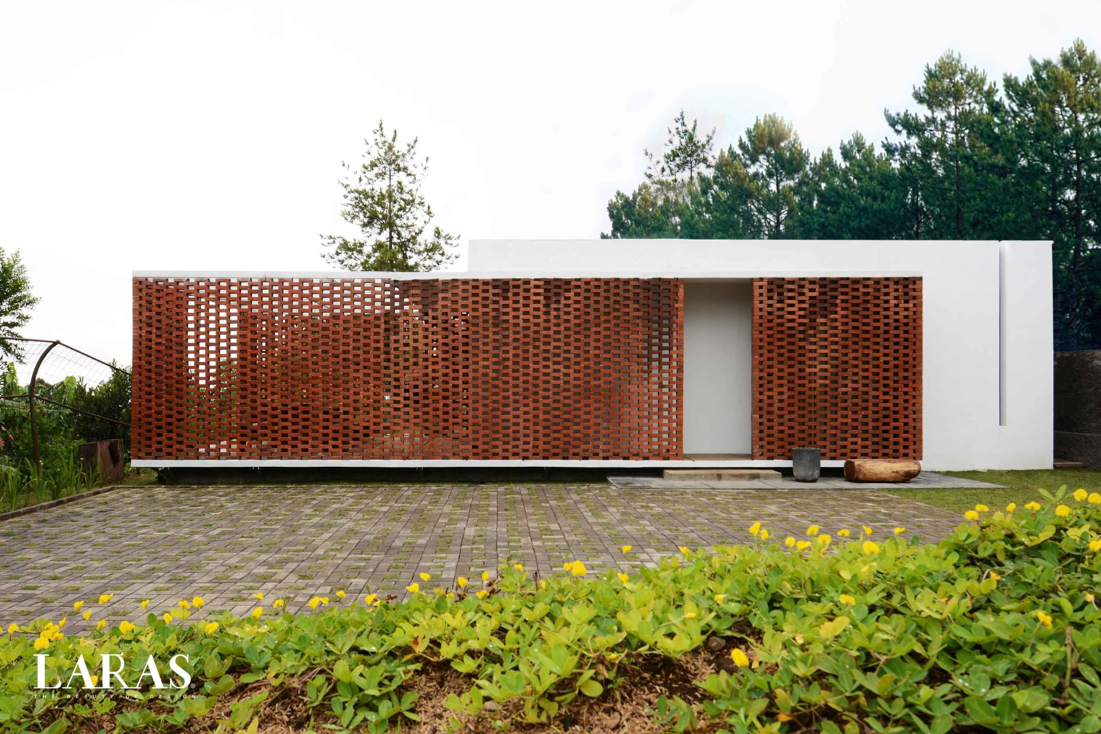 White Perforated Brick House