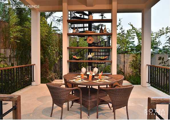 Ruang Makan Alta Vista Bali Mountain Villa