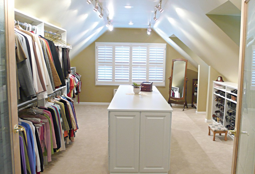 Walk in Closet in Attic