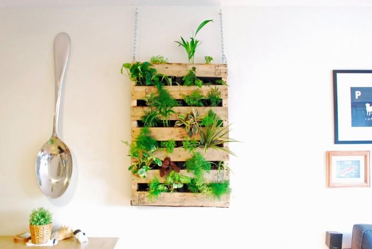 Tanaman hijau yang sejuk dipandang untuk dekorasi dinding (Sumber: teamne.net)