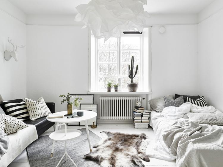 Ruang Santai Bergaya Skandinavian