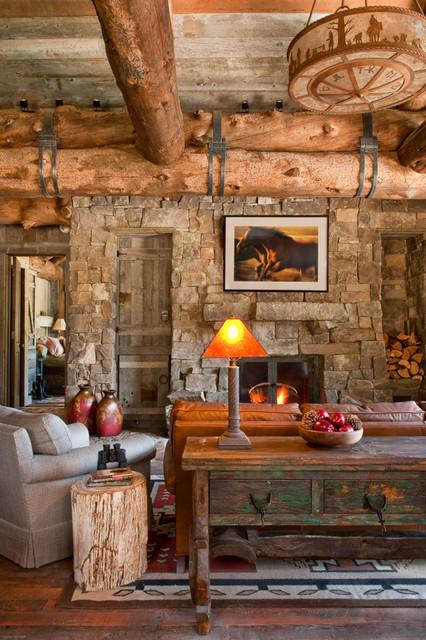 Ruang Santai Bergaya Rustic