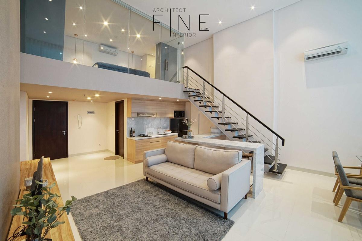 Tangga apartemen minimalis