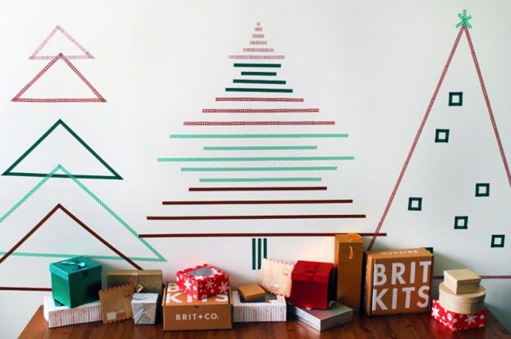 Pohon Natal dari Stiker
