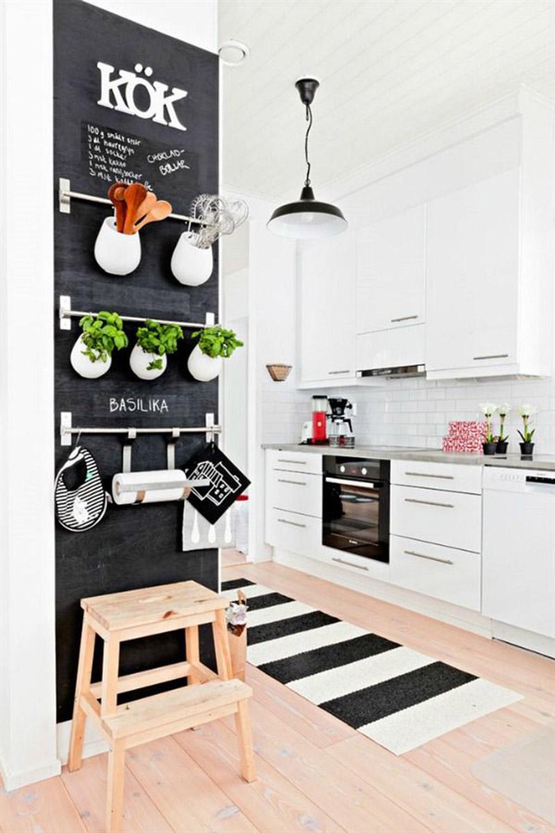 Kabinet Dapur Hitam Putih