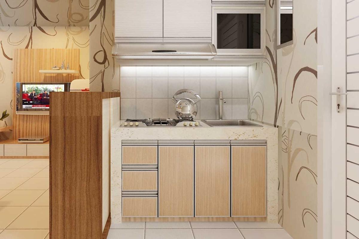 2. Desain Interior Dapur Apartemen Teluk Intan