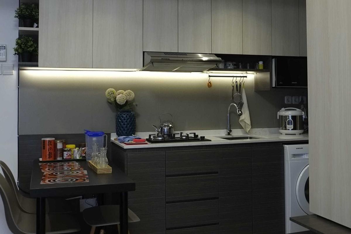 Desain interior dapur apartemen