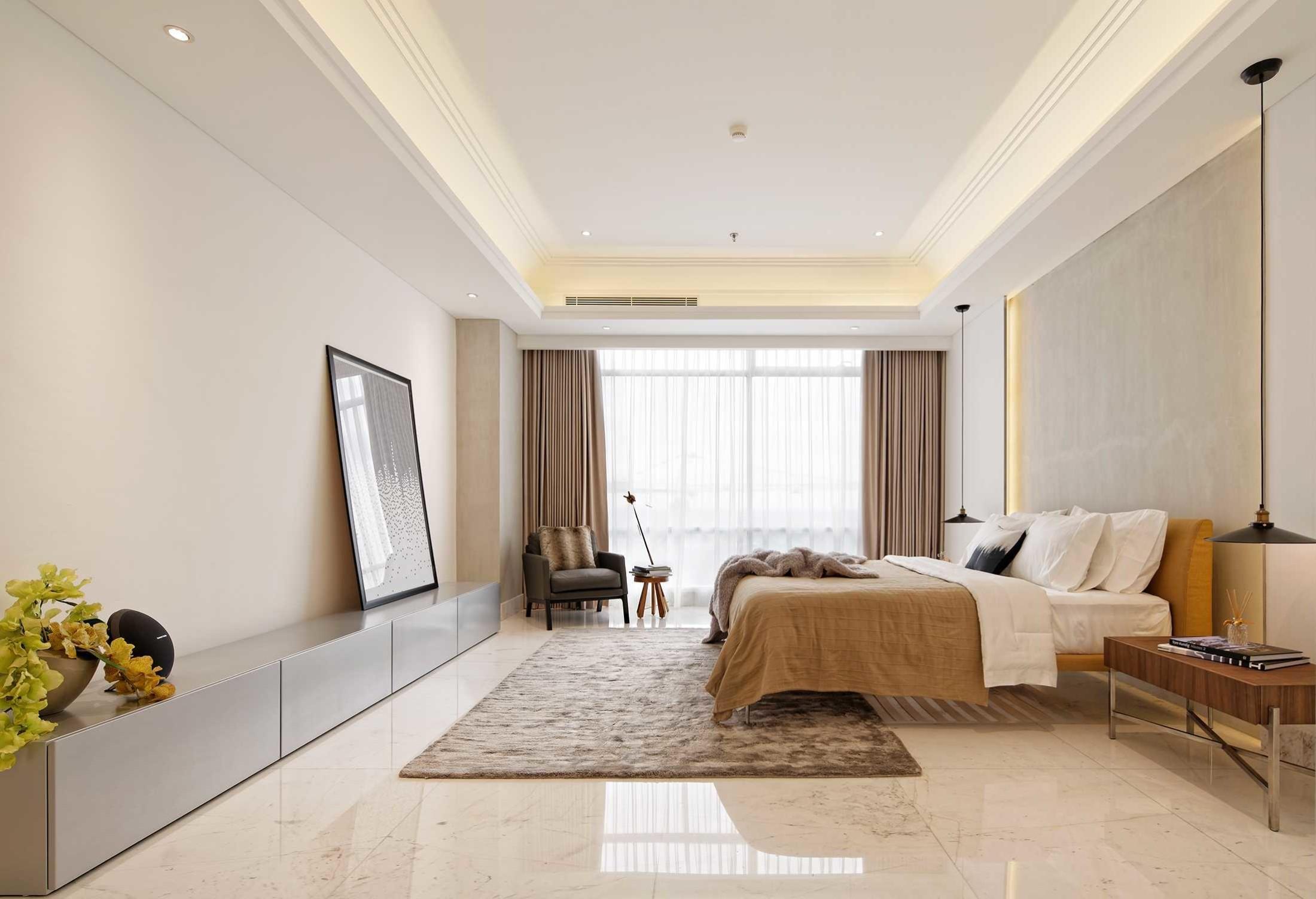 Warna-warna natural menciptakan kesan alami di kamar tidur minimalis (Sumber: arsitag.com)