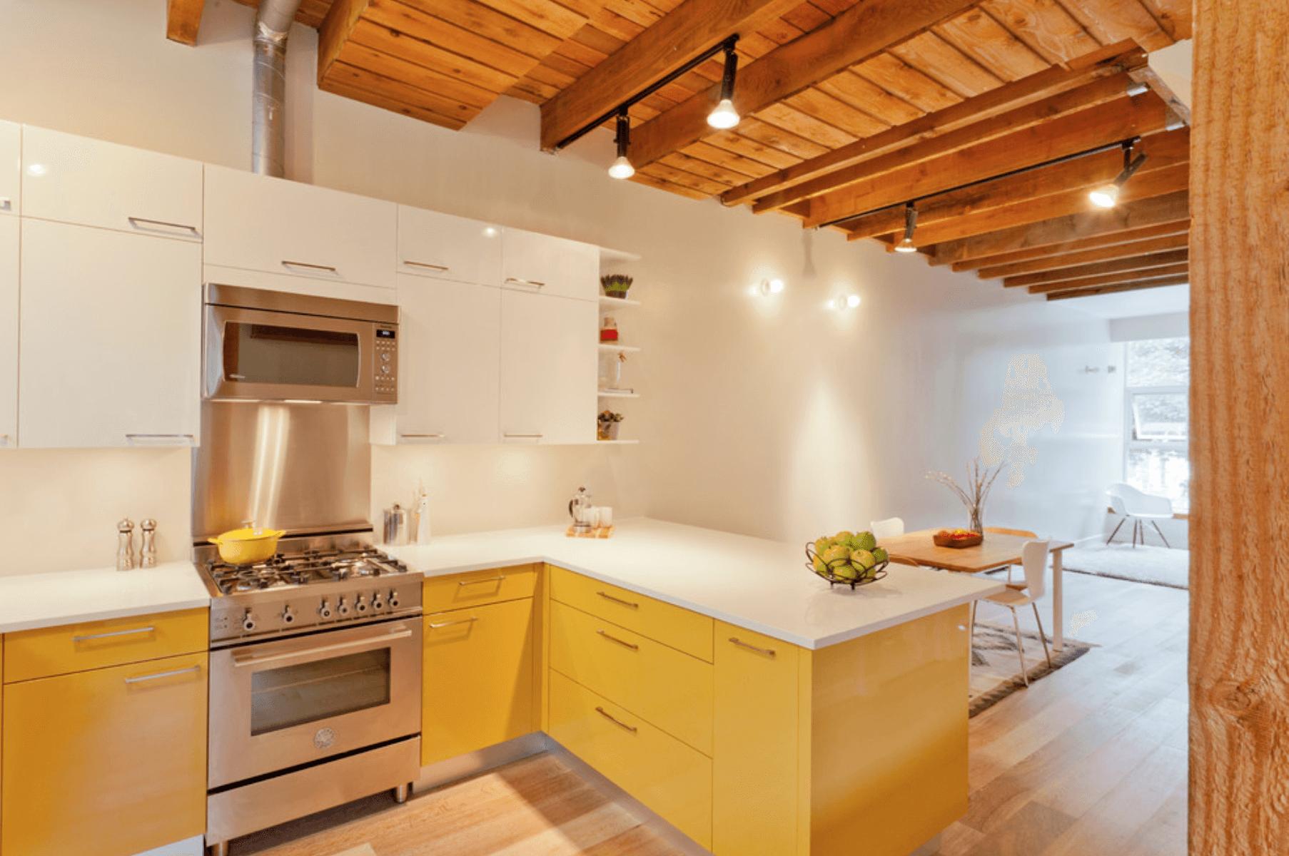 Warna kuning untuk dapur yang ceria (Sumber: freshome.com)