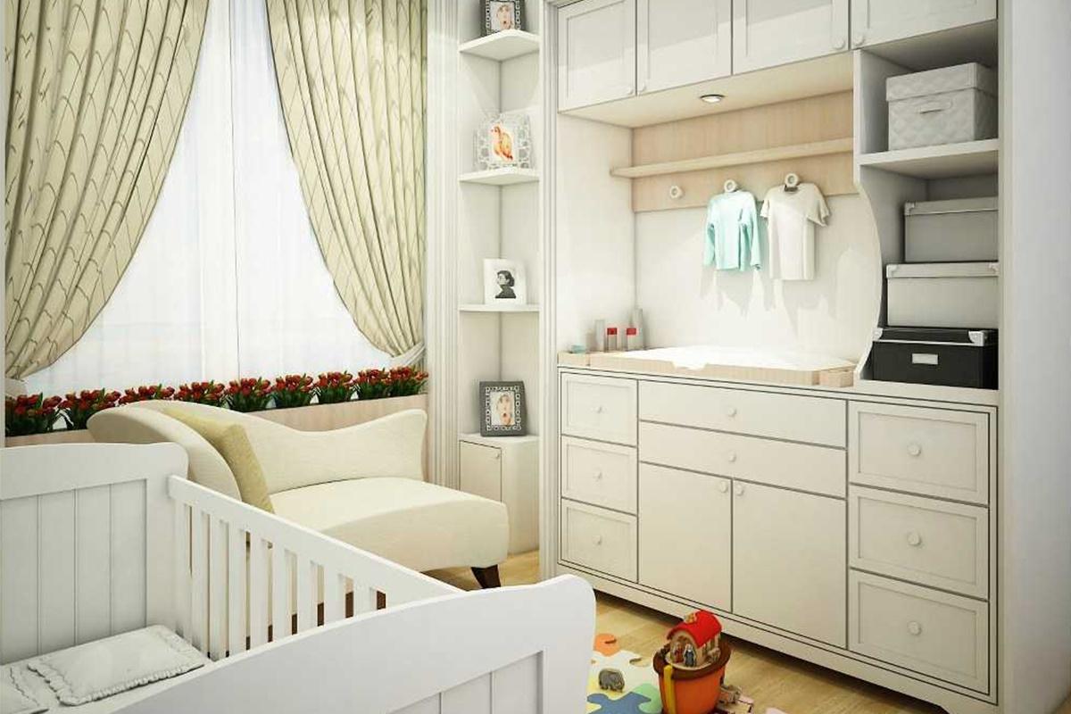 1. Kamar Bayi Nuansa Putih Bersih