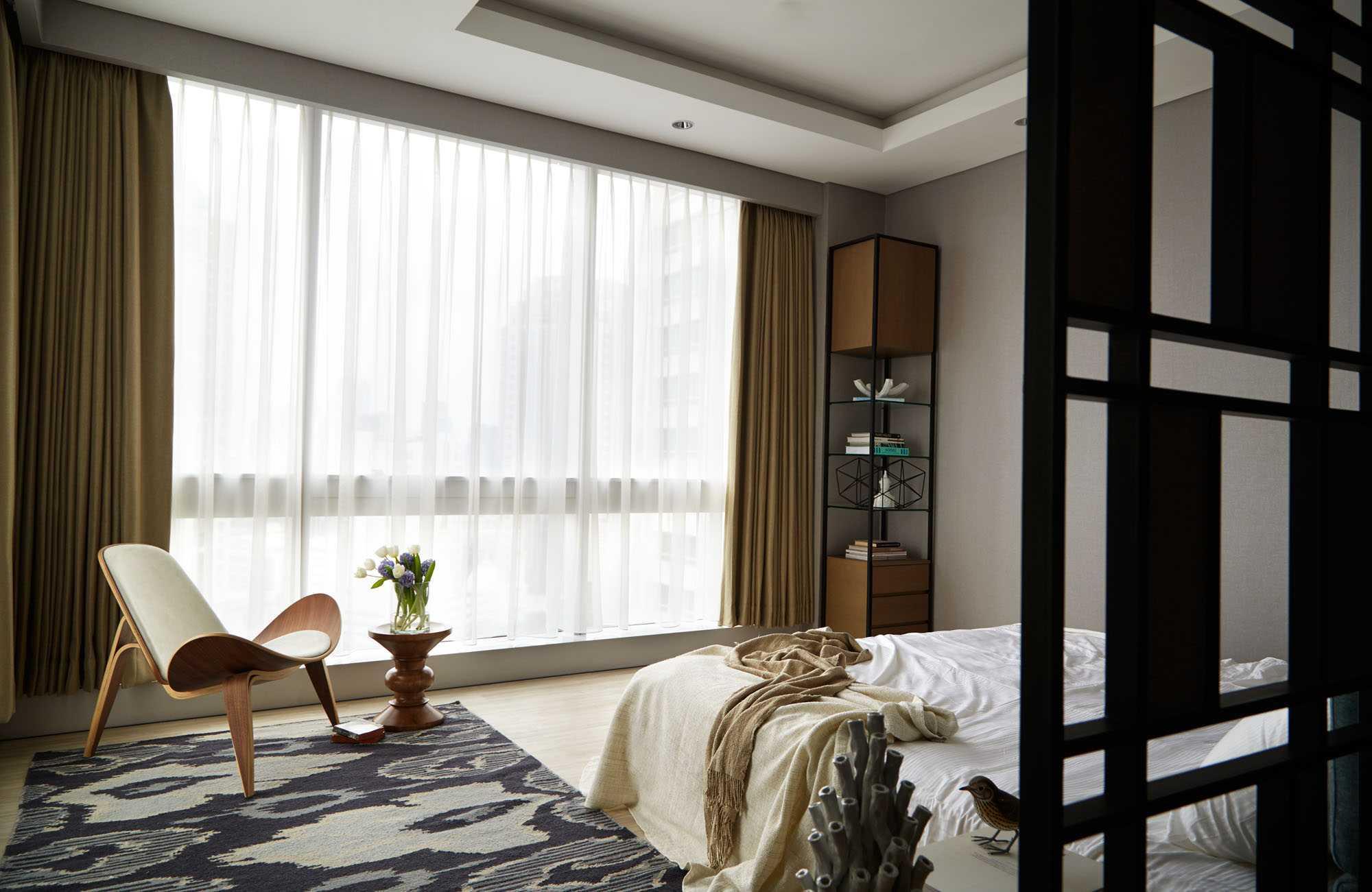 Kamar tidur Capital Residence bergaya skandinavia, karya Enviro Tec (Sumber: arsitag.com)