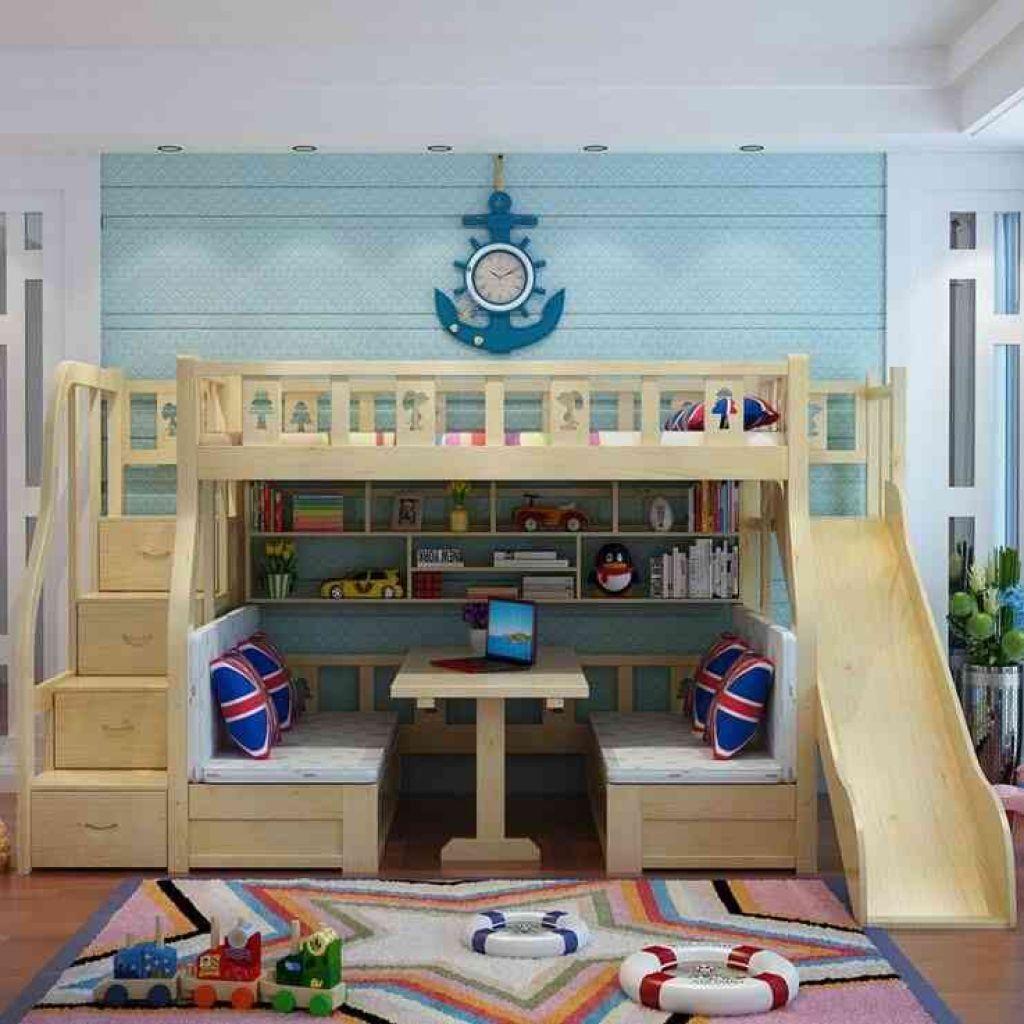 Kamar tidur yang mampu memenuhi semua kebutuhan anak (Sumber: toysnwords.com)