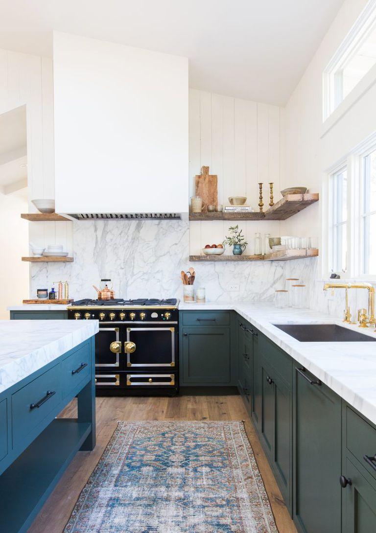 Dinding Dapur dengan Marmer
