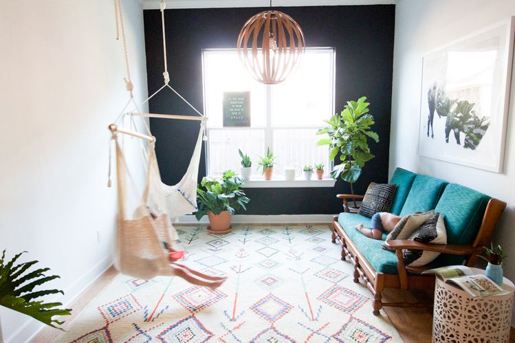 Hammock Kursi Sebagai Sudut Duduk di Rumah Anda