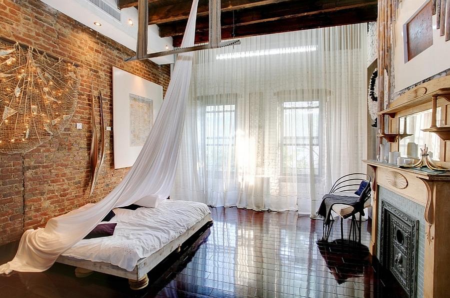 Kamar tidur industrial yang lembut (Sumber: decoist.com)