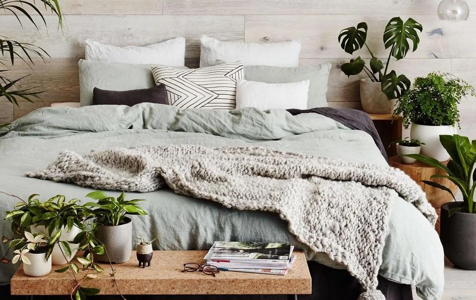 Tanaman Hias dalam Kamar Tidur untuk Atmosfer Menyegarkan