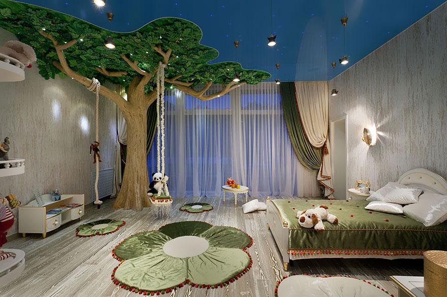 Sebuah Hutan Impian dalam Kamar Anak
