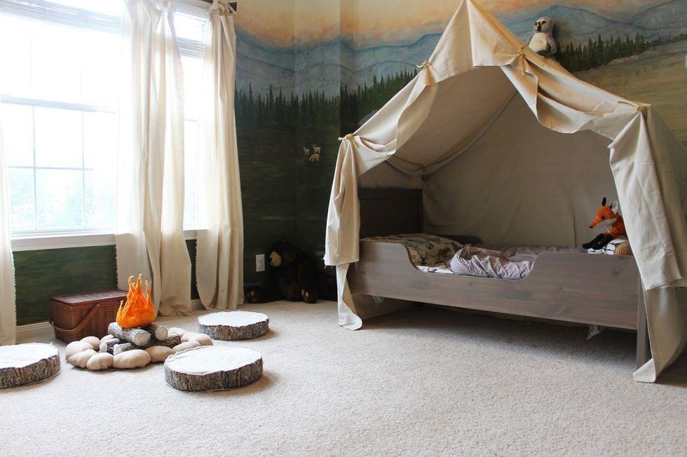 Pergunakan Tenda dalam Kamar Tidur Anak