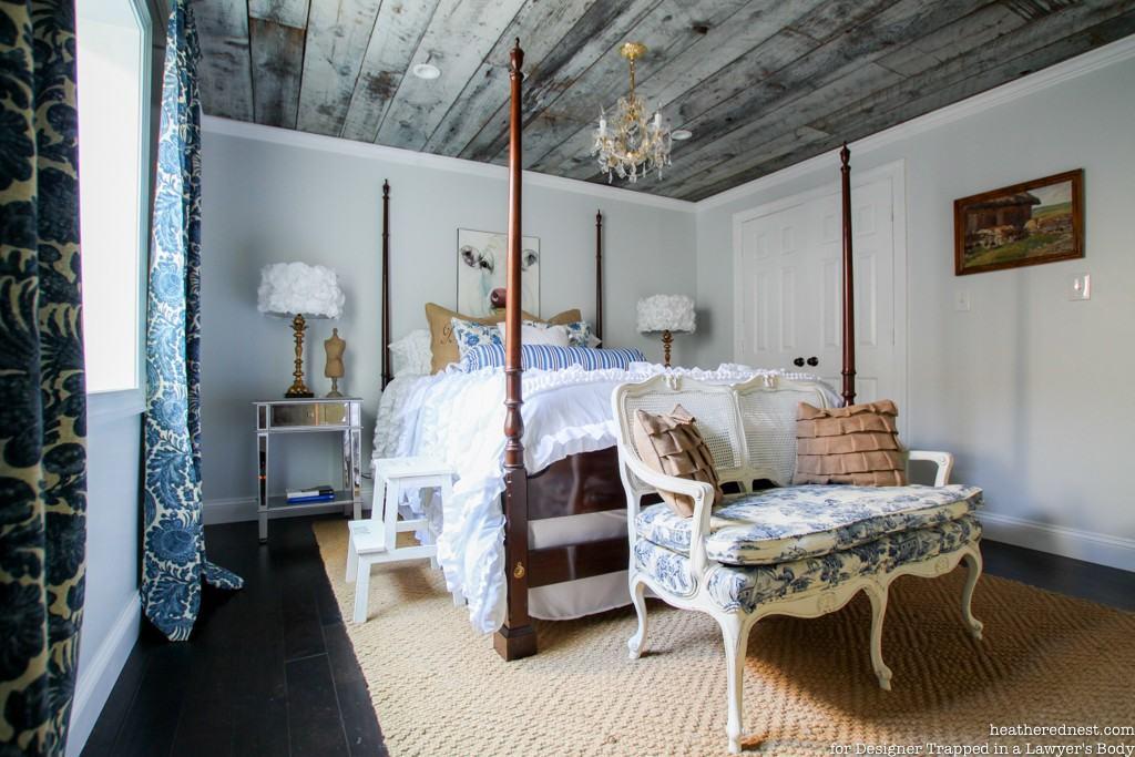 Plafon Kamar Tidur Bergaya Rustic yang Unik