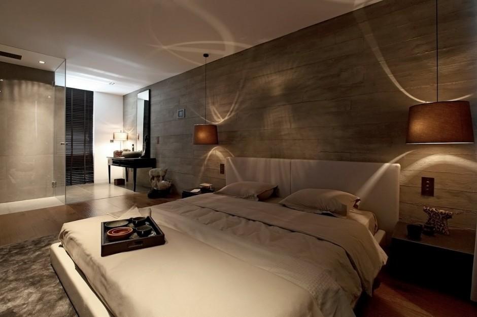 Desain interior kamar tidur cowok bergaya maskulin dan romantis (Sumber: freshome.com)