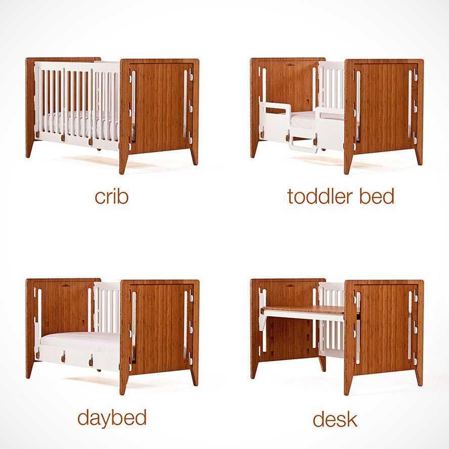 Furnitur bayi yang ikut tumbuh sesuai dengan perkembangan sang bayi (Sumber: mikeshouts.com)