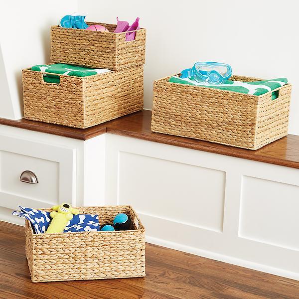 Keranjang penyimpanan untuk semua barang-barang keperluan bayi Anda, via containerstore.com