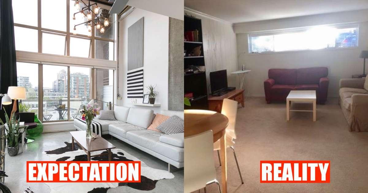 Ilustrasi realita yang berbeda dengan ekspektasi (Sumber: narcity.com)