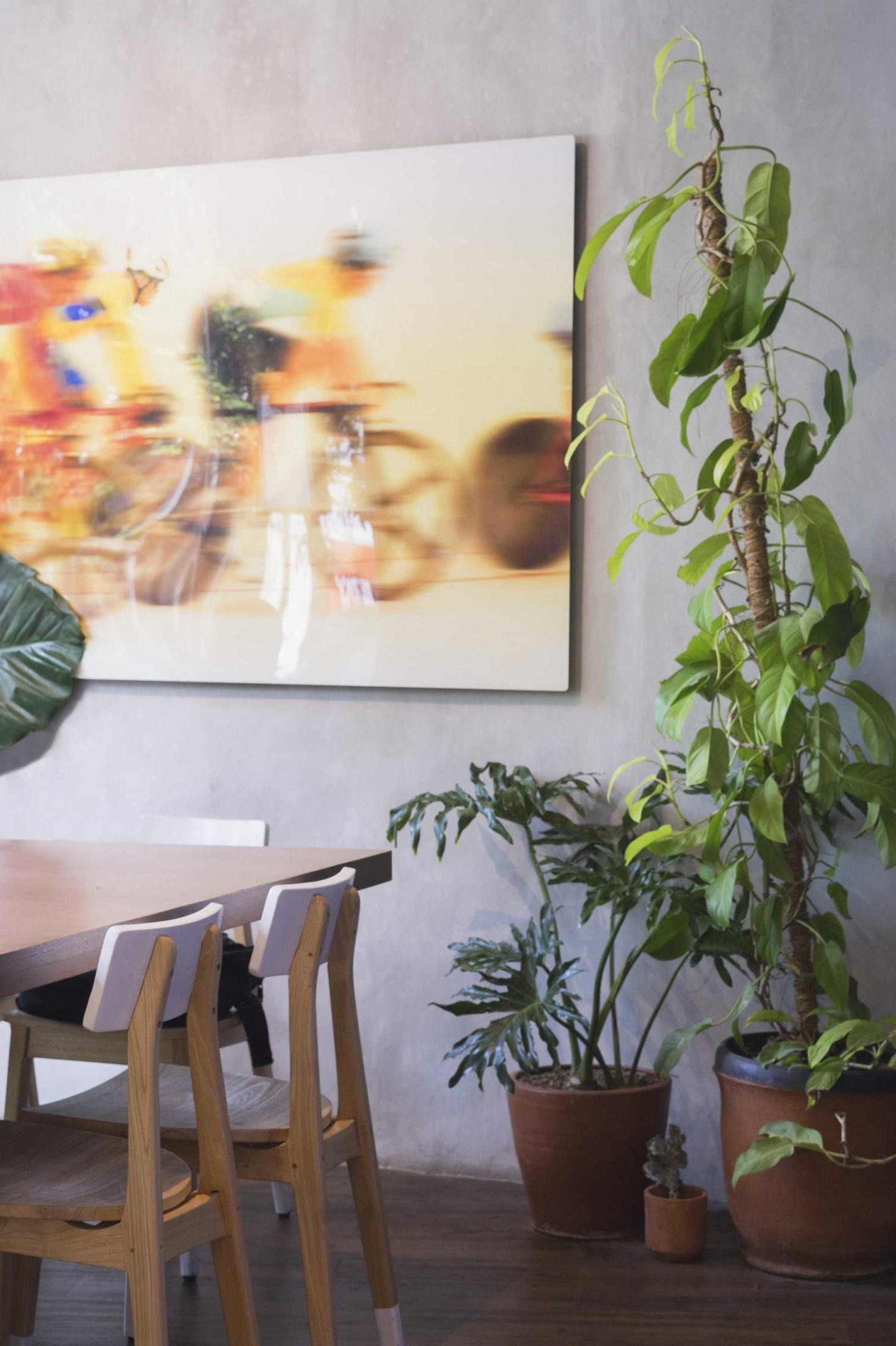 Dekorasi foto pesepeda sebagai highlight (Sumber: arsitag.com)