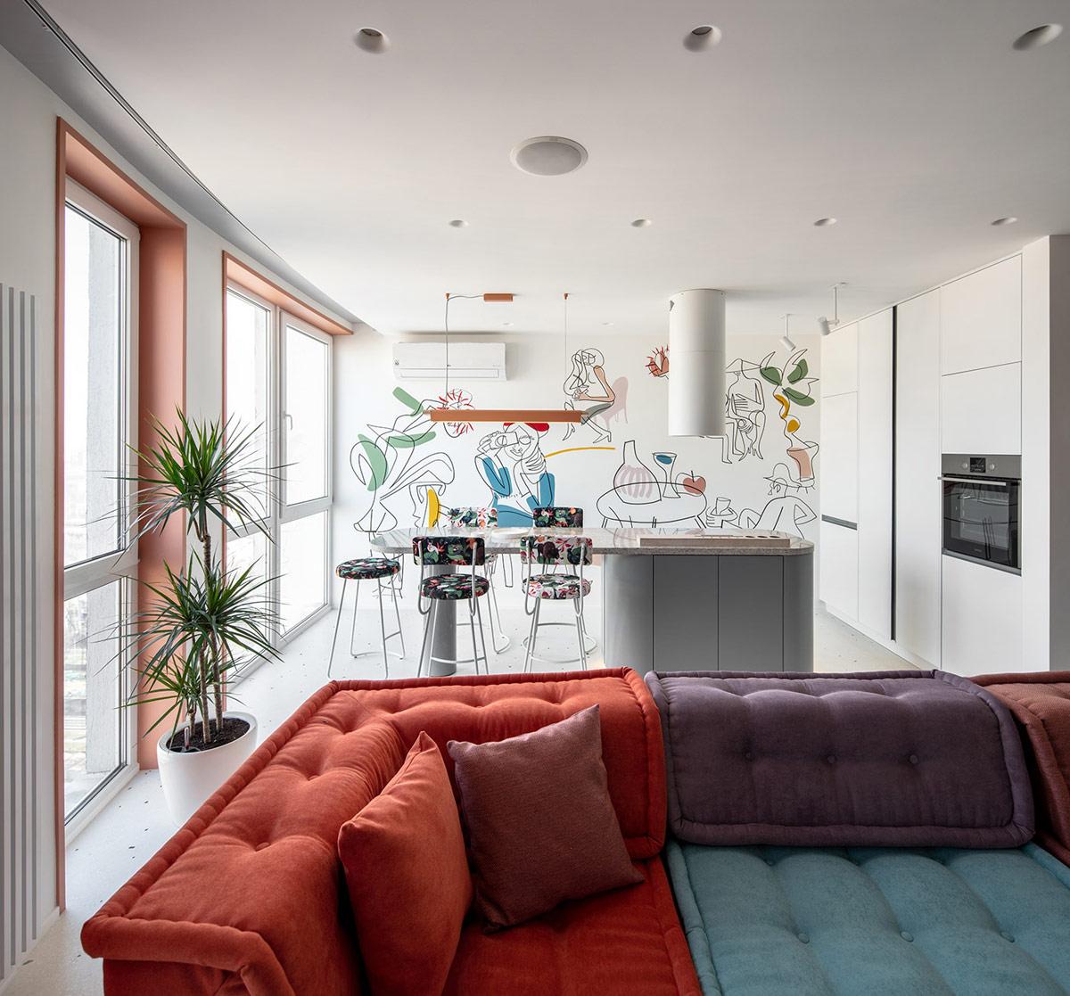 Lukisan di dinding untuk mempermanis ruangan (Sumber: home-designing.com)