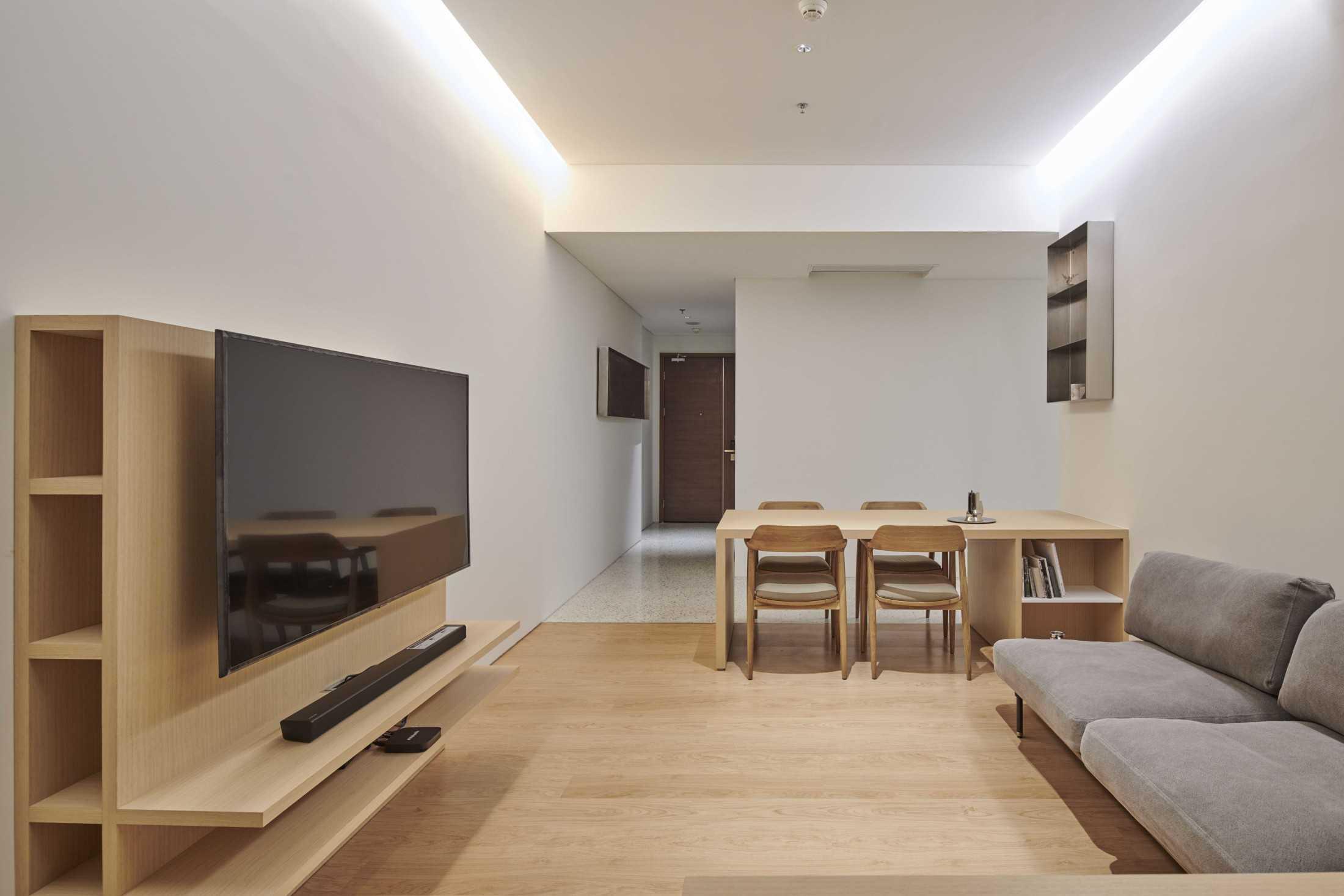 Apartemen minimalis tanpa sekat, proyek Marigold Apartment karya Design Donk (Sumber: arsitag.com)