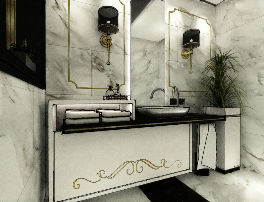 Inspirasi powder room (Sumber: freelancer.co.id)