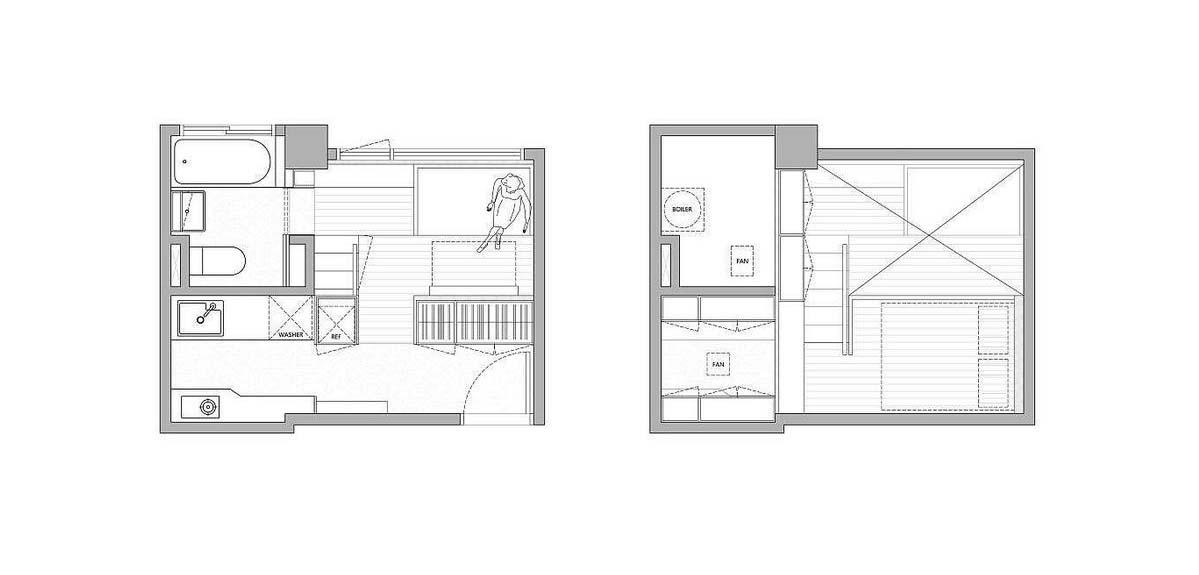 Denah apartemen (Sumber: freshome.com)
