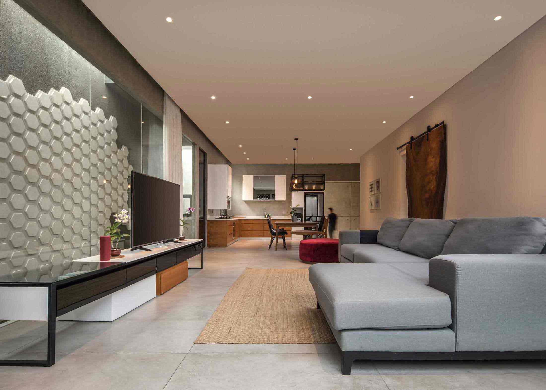 Desain Rumah Minimalis Dengan Permainan Pola Artistik Ala Jxa Studio Arsitag