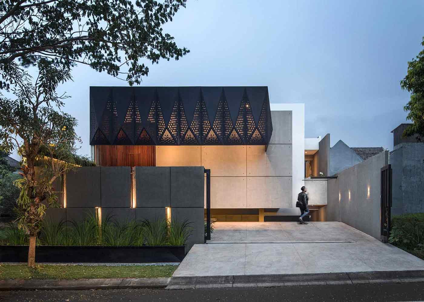 Desain Rumah Minimalis dengan Permainan Pola Artistik ala JXA Studio   Foto artikel Arsitag